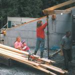 1998-Tischlerei Werstatt wird gebaut